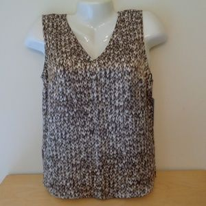 Worth NY Maple Marled Silk Tank Sleeveless Blouse
